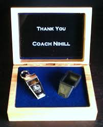 personalized engraved whistle box coach gift metal plate inside silver