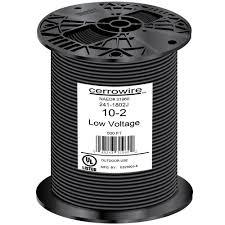 10 2 black stranded landscape lighting wire 241 1802j the home depot