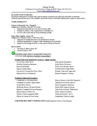 Office Assistant Duties And Responsibilities Resume Secretary Job