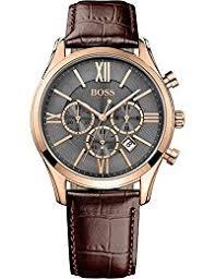 amazon co uk hugo boss watches hugo boss men s quartz watch chronograph quartz leather 1513198