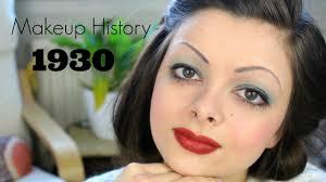 makeup history 1930 s you