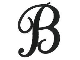 script letter b clipart