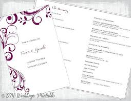 Microsoft Wedding Program Templates Catholic Wedding Program Template Free Templates Microsoft Word