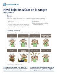Low Blood Sugar Spanish