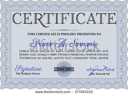 blue sample certificate diploma complex linear stock vector  blue sample certificate or diploma complex linear background elegant design vector certificate