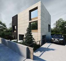 exterior office design. pictures of minimalist office building architectural design with grey and beige color exterior