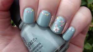 Easy Floral Nail Designs Arcadianailart Simple Flower Chain Nail Art
