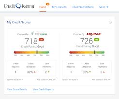 Credit Score Chart Credit Karma Credit Karma Adds A Second Free Credit Score Free Credit