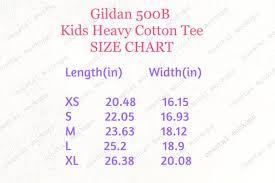 Gildan 500b Size Chart Mockup Gildan 500b Youth Tshirt Gildan Kids Tshirt Size Chart Mockup Tshirt Size Chart Mockup Size Chart