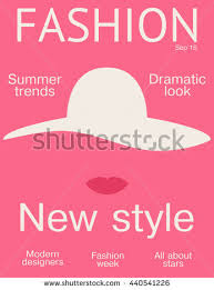pink fashion magazine cover design layout vector ilration