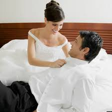 Lovely Couple In Bed Lying In Bedroom Wedding Night Sex Readers Share Stories About Their First Time As