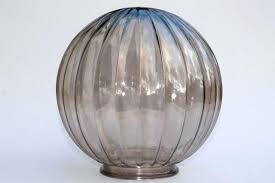 clear glass lamp shades mod vintage glass globe light shade retro brown smoke er color clear clear glass lamp shades