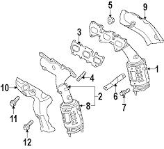 parts com® hyundai genesis coupe exhaust manifold oem parts 2015 hyundai genesis coupe 3 8 v6 3 8 liter gas exhaust manifold