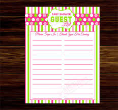 baby shower spreadsheet baby shower guest list template 8 free sample example format