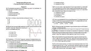 Физика класс видеоуроков тест и презентаций Контрольная работа №2 Электромагнитные колебания и волны