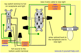 wiring diagrams to add a new light fixture do it yourself help com House Wiring Outlets wiring diagram to add a light fixture to a switched receptacle house wiring outlets in basement