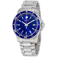movado men s watches new used luxury vintage movado series 800 blue dial stainless steel mens watch 2600137