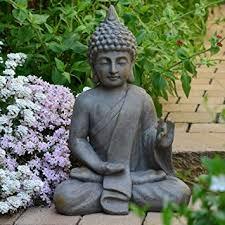 garden buddha. Garden Buddha Statue 54cm Decor