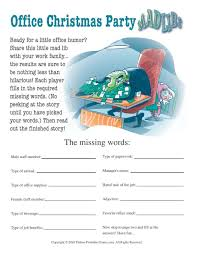 Games For The Office Office Christmas Party Mad Libs