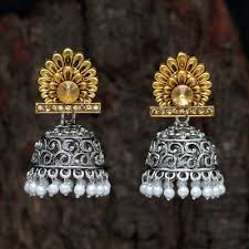 gold silver color gl stone antique earrings ante945gldslv