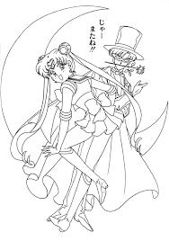 Princess Serenity Coloring Page Free Sailor Moon Y Darien Coloring