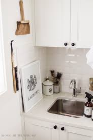 Very Small Laundry Room Beautifully Organized Small Laundry Rooms The Happy Housie