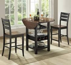 full size of table dazzling high sets bernards ridgewood drop leaf pub with wine rack wayside