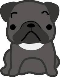 パグ犬のイラスト 無料イラストフリー素材