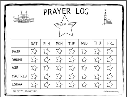 Salat Chart Free Printable Prayer Table For Kids Islamic Prayer Islam