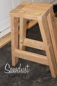 sawdust furniture. Build A Barstool Using Only 2x4s! See The Full Tutorial At Sawdustsisters.com Sawdust Furniture T