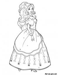 Small Picture Printable characters beautiful Barbie colouring pages Printable