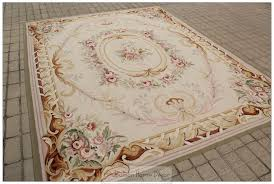 free ship 8x10 french pastel colors aubusson area rug wool hand with regard to rugs decor 5