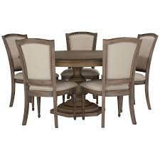 Haddie Light Tone Round Table Includes Table Four Wood Side Chairs And Server The Haddie
