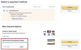 ing a gift card at amazon co uk
