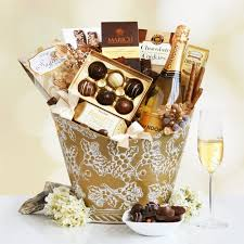 home gift baskets by beer wine gift baskets chandon sparkling wine and sweets gift basket