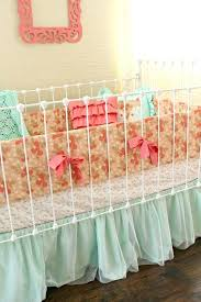 vintage baby bedding sets off crib bedding set for baby girl mint and peach baby