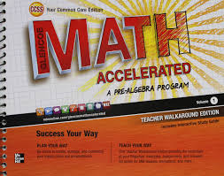 com glencoe math accelerated a pre algebra program volume 1 teacher walkaround edition common core edition 9780076644476 books