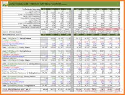 Financial Planning Sheet Excel Retirement Planning Excel Spreadsheet Canada India File