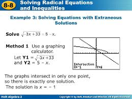 example 3 solving equations with extraneous solutions