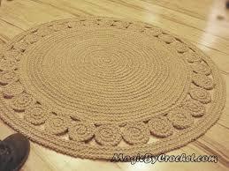 nautical decor natural rug jute accent round 40