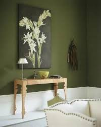 olive green walls would be beautiful in