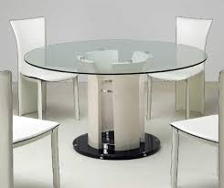 attractive dining room design with glass top table ideas modern italian style white dining table
