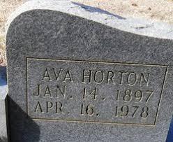Ava Lou Horton Bane (1897-1978) - Find A Grave Memorial