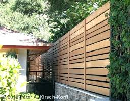 Horizontal Slatted Fence Panels Horizontal Fencing Custom Modern