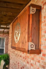 patio outdoor wall mount wood tv cabinet enclosure for