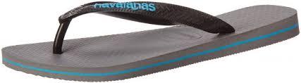 Havaianas Mens Top Logo Filete Sandal Grey Red 43 44 Br 11 12 M Us