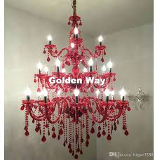 red crystal chandelier modern luxury red crystal chandelier lighting led modern crystal living room bedroom chandelier red crystal chandelier