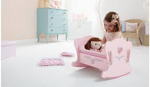 image of baby doll bed with storage