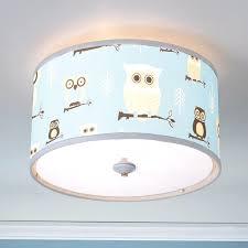 owl lamp shades baby boy ceiling lights with nursery decor blue shade 18