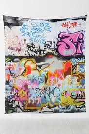 Graffiti Tapestry - Urban Outfitters-DEFINITE BUY OR REFERENCE FOR MUSLIN  PAINTED DROP.